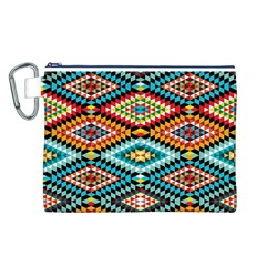 African Tribal Patterns Canvas Cosmetic Bag (L)