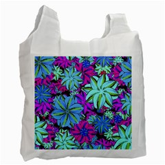 Vibrant Floral Collage Print Recycle Bag (two Side)