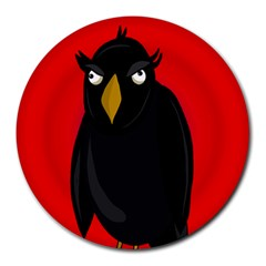 Halloween - old raven Round Mousepads