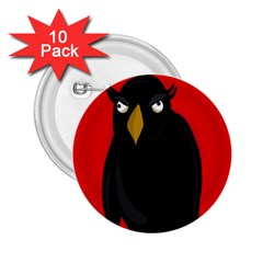 Halloween - old raven 2.25  Buttons (10 pack)