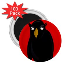 Halloween - old raven 2.25  Magnets (100 pack)