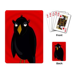 Halloween - old raven Playing Card