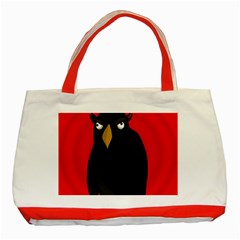 Halloween - old raven Classic Tote Bag (Red)
