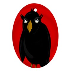 Halloween - old raven Oval Ornament (Two Sides)