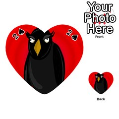Halloween - old raven Playing Cards 54 (Heart)