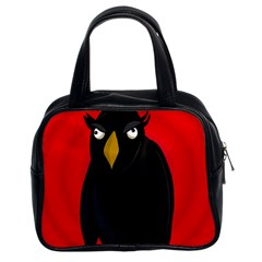 Halloween - old raven Classic Handbags (2 Sides)