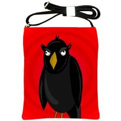 Halloween - old raven Shoulder Sling Bags