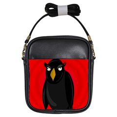 Halloween - old raven Girls Sling Bags