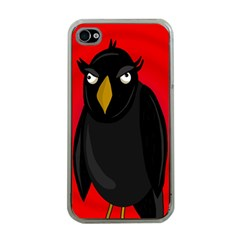 Halloween - old raven Apple iPhone 4 Case (Clear)