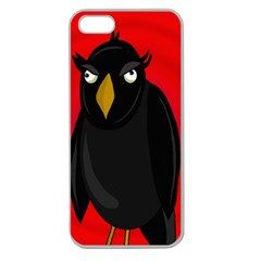 Halloween - old raven Apple Seamless iPhone 5 Case (Clear)