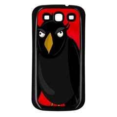 Halloween - old raven Samsung Galaxy S3 Back Case (Black)