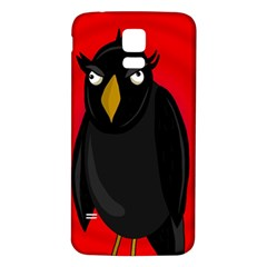 Halloween - old raven Samsung Galaxy S5 Back Case (White)