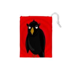Halloween - old raven Drawstring Pouches (Small)