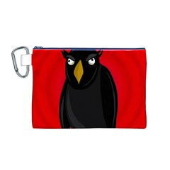 Halloween - old raven Canvas Cosmetic Bag (M)