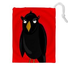 Halloween - old raven Drawstring Pouches (XXL)