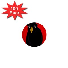 Halloween - old raven 1  Mini Magnets (100 pack)
