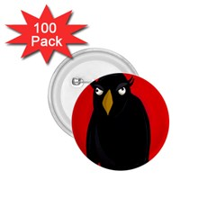 Halloween - old raven 1.75  Buttons (100 pack)
