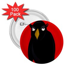 Halloween - old raven 2.25  Buttons (100 pack)