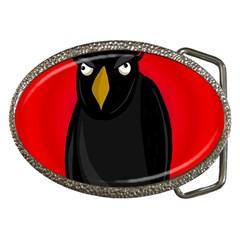 Halloween - old raven Belt Buckles