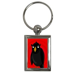 Halloween - old raven Key Chains (Rectangle)
