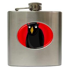 Halloween - old raven Hip Flask (6 oz)