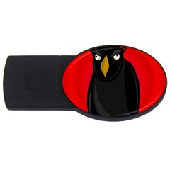 Halloween - old raven USB Flash Drive Oval (4 GB)