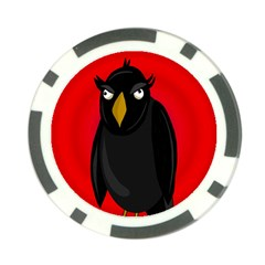 Halloween - old raven Poker Chip Card Guards