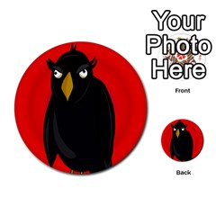 Halloween - old raven Multi-purpose Cards (Round)