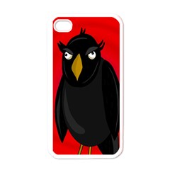 Halloween - old raven Apple iPhone 4 Case (White)