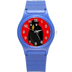 Halloween - old raven Round Plastic Sport Watch (S)