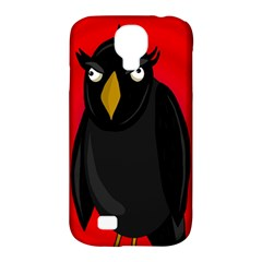Halloween - old raven Samsung Galaxy S4 Classic Hardshell Case (PC+Silicone)