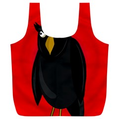 Halloween - old raven Full Print Recycle Bags (L)