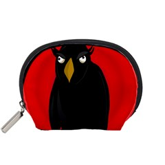 Halloween - old raven Accessory Pouches (Small)