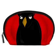 Halloween - old raven Accessory Pouches (Large)