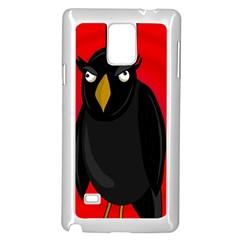 Halloween - old raven Samsung Galaxy Note 4 Case (White)