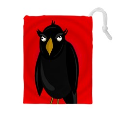 Halloween - old raven Drawstring Pouches (Extra Large)