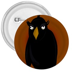 Halloween - old black rawen 3  Buttons