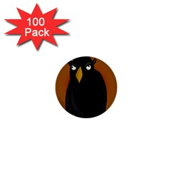 Halloween - old black rawen 1  Mini Buttons (100 pack)