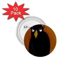 Halloween - old black rawen 1.75  Buttons (10 pack)