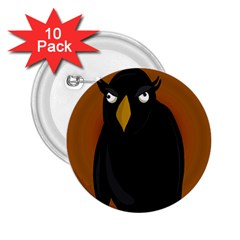 Halloween - old black rawen 2.25  Buttons (10 pack)