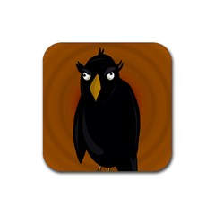 Halloween - old black rawen Rubber Square Coaster (4 pack)