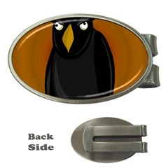 Halloween - old black rawen Money Clips (Oval)