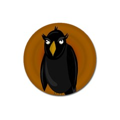 Halloween - old black rawen Magnet 3  (Round)