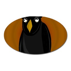 Halloween - old black rawen Oval Magnet