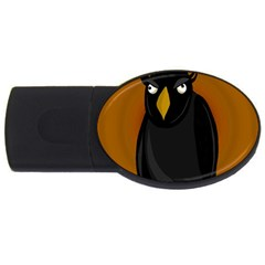 Halloween - old black rawen USB Flash Drive Oval (1 GB)