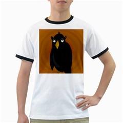 Halloween - old black rawen Ringer T-Shirts