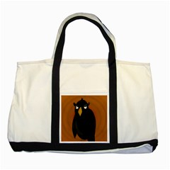 Halloween - old black rawen Two Tone Tote Bag