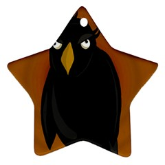 Halloween - old black rawen Star Ornament (Two Sides)