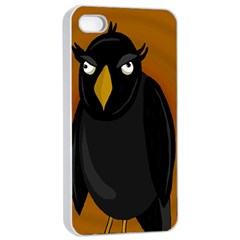 Halloween - old black rawen Apple iPhone 4/4s Seamless Case (White)