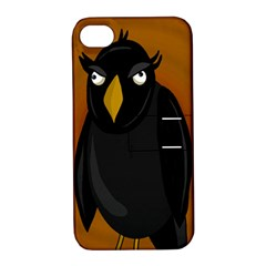 Halloween - old black rawen Apple iPhone 4/4S Hardshell Case with Stand
